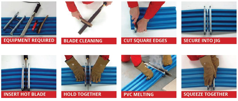 PVC Waterstop Welding Method