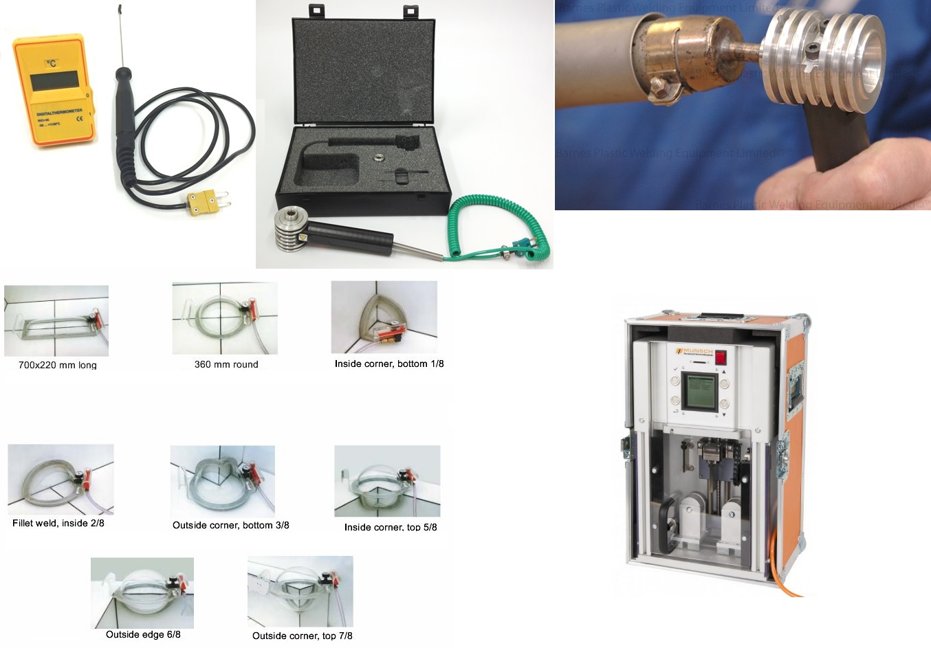 Test Equip - Thermometers - Vacuum Boxes - Bend Testers