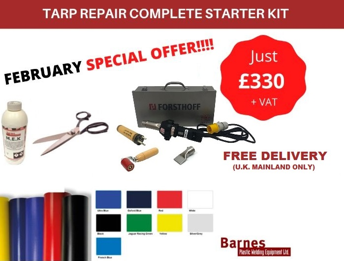 Tarp Repair Complete Starter Kit - 110v